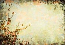 Bloemen oude achtergrond Royalty-vrije Stock Foto