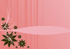 Bloemen over roze achtergrond Royalty-vrije Stock Afbeeldingen