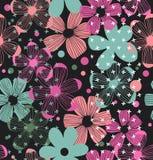Bloemen overladen patroon Naadloos romantisch ontwerp met schoonheidsbloemen vector illustratie