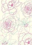 Bloemen overzichtenpatroon Stock Afbeeldingen
