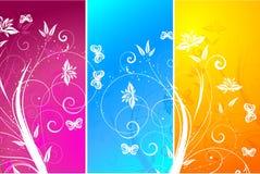 Bloemen panelen Stock Afbeelding