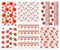 Bloemen patronen Stock Afbeeldingen