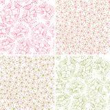 Bloemen patronen Royalty-vrije Stock Afbeeldingen