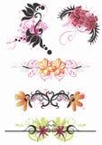 Bloemen patronen Stock Foto's