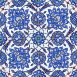 Bloemen patronen op de tegels van de Ottomane, Istanboel, Turkije Royalty-vrije Stock Afbeeldingen