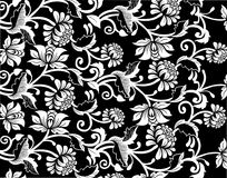 Bloemen patroon als achtergrond Royalty-vrije Stock Afbeelding