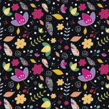 Bloemen 14 Bloemen patroon behang vector illustratie
