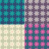 Bloemen patroon De textuur van bloemen Stock Afbeelding
