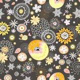 Bloemen patroon met vogels royalty-vrije illustratie