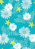 Bloemen patroon naadloze tegel Royalty-vrije Stock Afbeelding