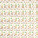 Bloemen patroon op (naadloos) wit Royalty-vrije Stock Foto's