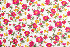 Bloemen patroon op naadloze doek. Het boeket van de bloem. Stock Foto