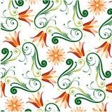 Bloemen Patroon op Witte Achtergrond vector illustratie