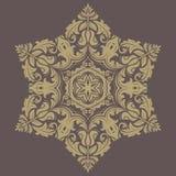 Bloemen patroon Oriënteer Abstracte Achtergrond royalty-vrije illustratie