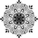 Bloemen patroon Oriënteer Abstracte Achtergrond Stock Fotografie