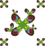 Bloemen patroon over wit Royalty-vrije Stock Afbeelding