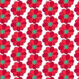 Bloemen patroon Rode bloemen Royalty-vrije Stock Foto's