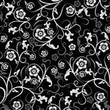 Bloemen patroon, vector Stock Afbeeldingen