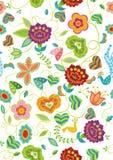 Bloemen patroonachtergrond Royalty-vrije Stock Foto's
