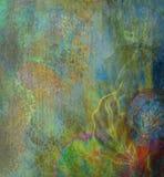 Bloemen patroonbehang Stock Foto