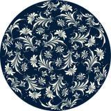 Bloemen patrooncirkel Stock Afbeelding
