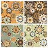 Bloemen Pattern_Autumn Stock Afbeeldingen