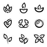 Bloemen pictogrammen Royalty-vrije Stock Foto's
