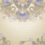 Bloemen poatcard Royalty-vrije Stock Afbeelding