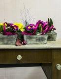Bloemen in potten Stock Fotografie