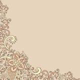 Bloemen-prentbriefkaar royalty-vrije illustratie