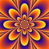 Bloemen Psychedelisch patroon Stock Foto's