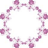 Bloemen purper cirkelelement Stock Afbeeldingen