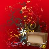 Bloemen Radio Vectorontwerp Stock Foto