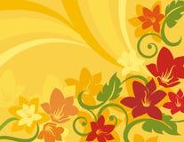 Bloemen Reeks Als achtergrond Royalty-vrije Stock Foto's