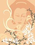 Bloemen Reeks Als achtergrond vector illustratie