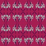 Bloemen Retro Abstract Patroon Stock Fotografie