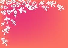 Bloemen retro achtergrond stock illustratie