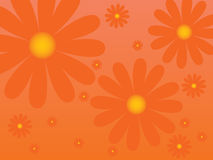 Bloemen retro achtergrond Royalty-vrije Stock Fotografie