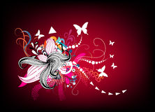 Bloemen retro achtergrond vector illustratie