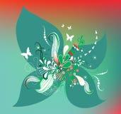 Bloemen retro achtergrond royalty-vrije illustratie