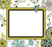 Bloemen Retro Frame Royalty-vrije Stock Foto's