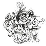 Bloemen retro naadloos patroon Stock Afbeeldingen