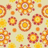 Bloemen retro patroon Royalty-vrije Stock Fotografie