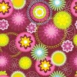 Bloemen retro patroon royalty-vrije illustratie