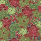 Bloemen retro patroon Stock Afbeelding
