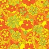 Bloemen retro patroon Stock Afbeeldingen