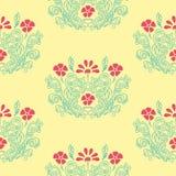 Bloemen retro patroon Stock Foto