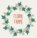 Bloemen rond frame Royalty-vrije Stock Afbeeldingen