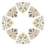 Bloemen ronde grens stock illustratie