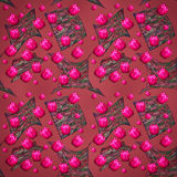 Bloemen roze de tulpen feestelijke achtergrond van ontwerp groene bladeren Stock Foto